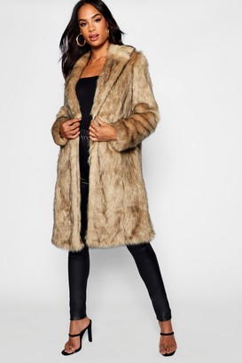 boohoo Tall Faux Fur Coat