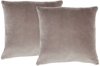 Nourison Life Styles Solid Velvet Pillow Covers, Set Of 2, Taupe