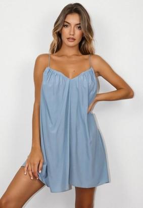 Missguided Grey Cami Trapeze Mini Dress