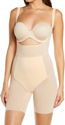 ITEM m6 Power Mesh Open Bust Shape Bodysuit