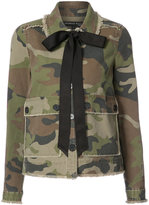 Veronica Beard camouflage bow jacket