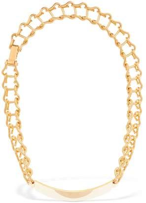 Marni Plaque Chain Short Necklace