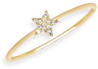 Ef Collection Diamond Star Stacking Ring