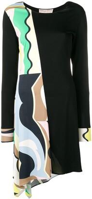 Emilio Pucci Vallauris Print Asymmetric Dress