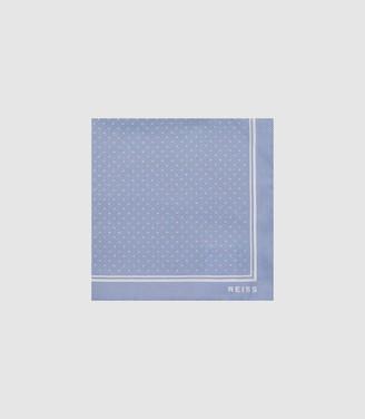 Reiss JUPITER SILK POCKET SQUARE Soft Blue