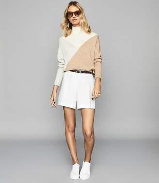 Reiss Lyla - Longer Length Tailored Shorts in White