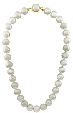 Majorica 12mm White Round Pearl Necklace