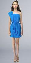 Turquoise One Shoulder Ruffled Dresses by Kara Janx