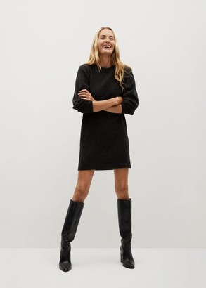 MANGO Short knit dress