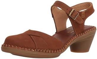 El Naturalista Women's N5324 Pleasant /Aqua Heeled Sandal