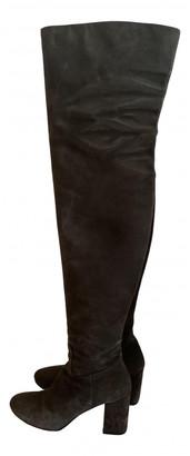 Balenciaga Anthracite Suede Boots