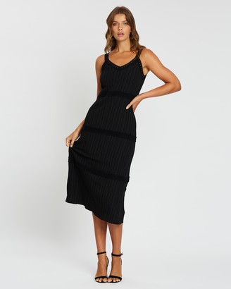 Atmos & Here Larissa Contrast Midi Dress