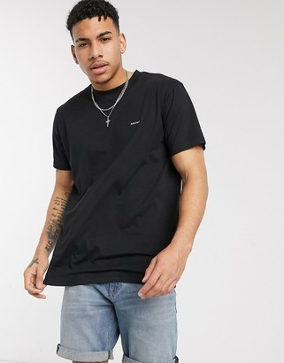 Night Addict Limited chest print oversized t-shirt in black