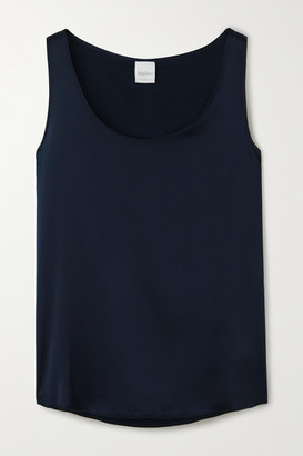 Max Mara Leisure Pan Silk-blend Satin Tank - Navy