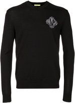 Versace embroidered patch sweater - men - Acrylic/Wool - S