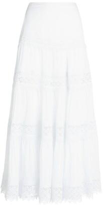 Charo Ruiz Ibiza Ruth Lace Maxi Skirt