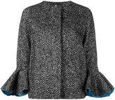 Capucci ruffle cuff cropped coat
