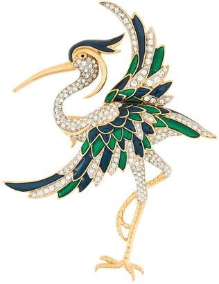 Susan Caplan Vintage 1980's D'Orlan stork brooch