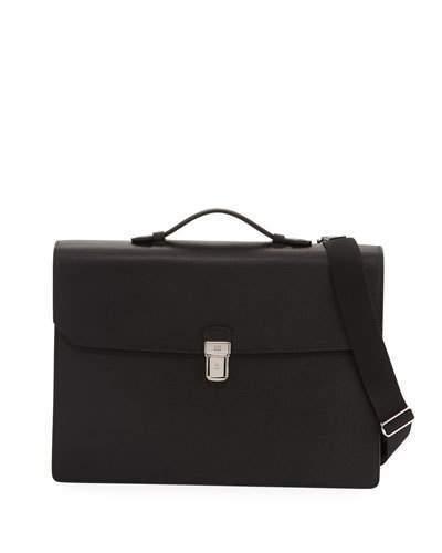 Dunhill Cadogan Double-Flap Leather Briefcase