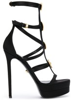 Versace Medusa studded strappy sandals