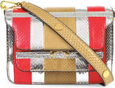 Marni Mini snake-embossed leather trunk bag