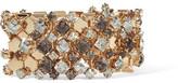 Lanvin Gold-tone Swarovski Crystal Bracelet - one size