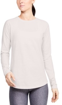 Under Armour Women's Charged Cotton Adjustable Long-Sleeve T-Shirt