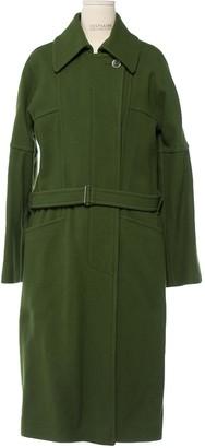Dries Van Noten Green Wool Coats