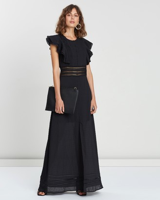 Atmos & Here Ruffle Maxi Dress