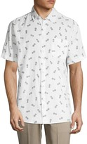 Saks Fifth Avenue Pineapple Print Short-Sleeve Shirt