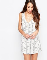 Dream Team Shift Dress In Arrow Print