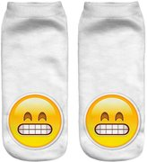 Jiayiqi Girls Kawaii Smile Facial Expression Ankle Socks Smilingly Grin Emoticon Sock