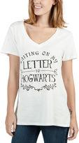 BIO Short Sleeve V Neck Harry Potter Graphic T-Shirt