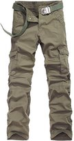 URBANFIND Men's Regular Fit Cargo Pants US Size 30 Khaki Style