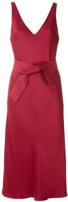 Gloria Coelho Tie Waist Midi Dress