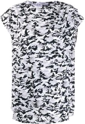 MM6 MAISON MARGIELA asymmetric camo T-shirt
