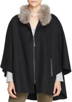 Derek Lam 10 Crosby Fur Collar Cape Coat