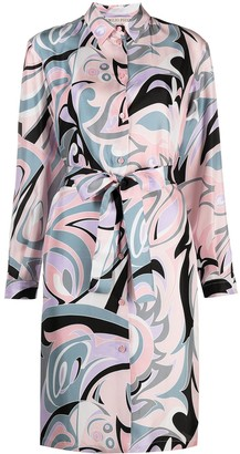 Emilio Pucci Tropico print silk shirt dress