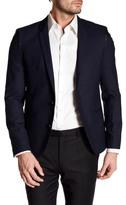 HUGO BOSS Adgert Notch Lapel Long Sleeve Dark Blue Sport Coat