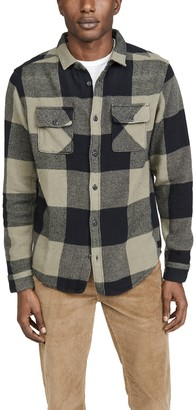 RVCA Haywire Flannel Plaid Long Sleeve Shirt