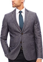 Jf J.Ferrar JF Gray Chambray Sport Coat-Slim
