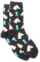 Hot Sox Women's Horse and Ribbon Crew socks