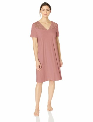 Hanro Women's Moments Short Sleeve Gown