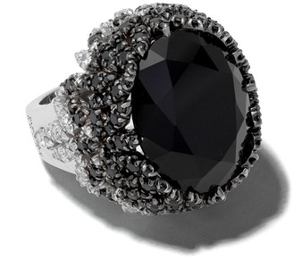 Pasquale Bruni 18kt white gold Ghirlanda onyx and diamond cocktail ring