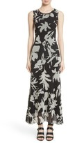 Fuzzi Women's Floral Tulle Maxi Dress