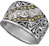 Effy Balissima by Diamond Swirl Ring in 18k Gold and Sterling Silver (1/10 ct. t.w.)