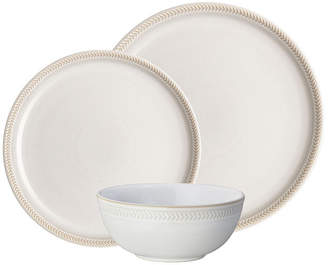 Denby Natural Canvas Coupe Chevron 12-pc Dinnerware Set, Service for 4
