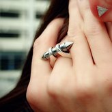 "Plukka ""Bullet"" Sterling Silver Ring"
