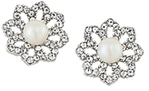 Carolee Faux Pearl Flower Clip-On Earrings