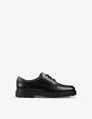 Clarks Loxham Brogue Youth leather derby brogues 9-12 years